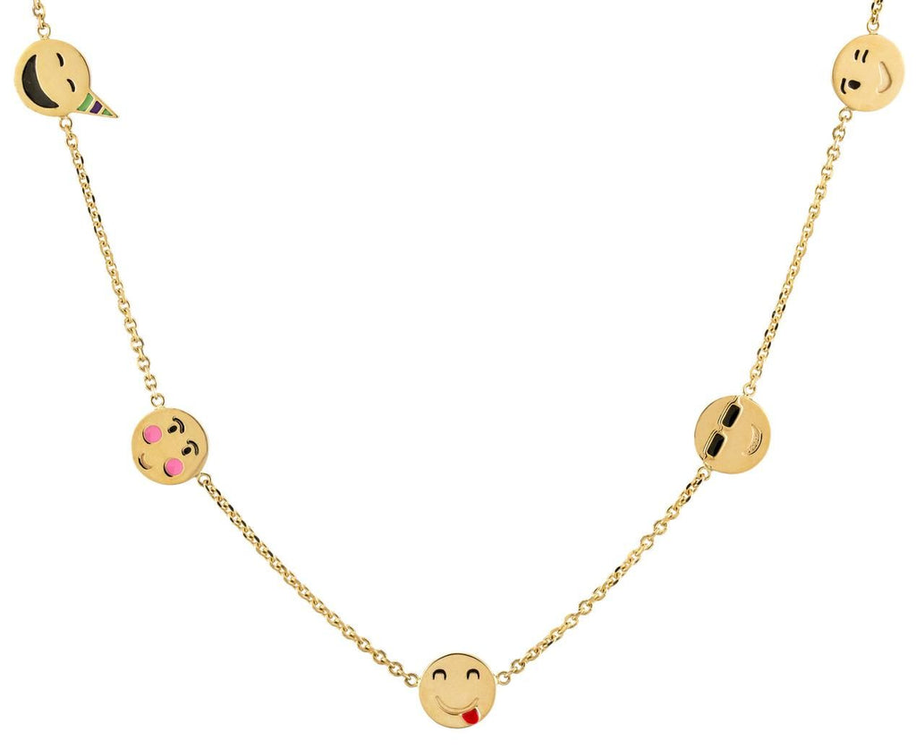 Super Emotional Nine Face Emoji Necklace - TWISTonline