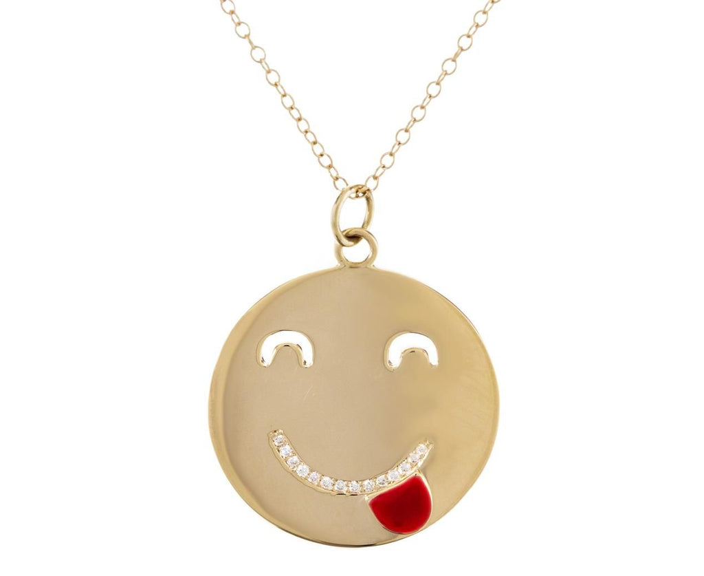 Tounge Out Pendant with Diamonds - TWISTonline