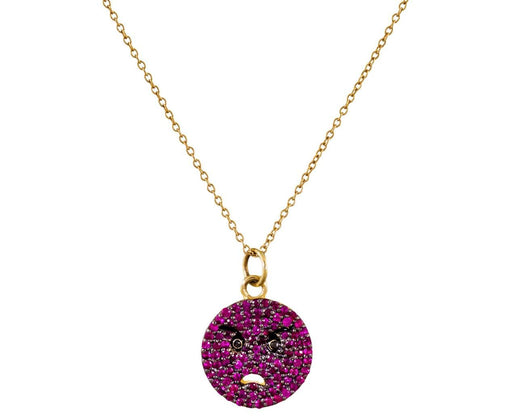 Ruby Angry Face Pendant Necklace - TWISTonline