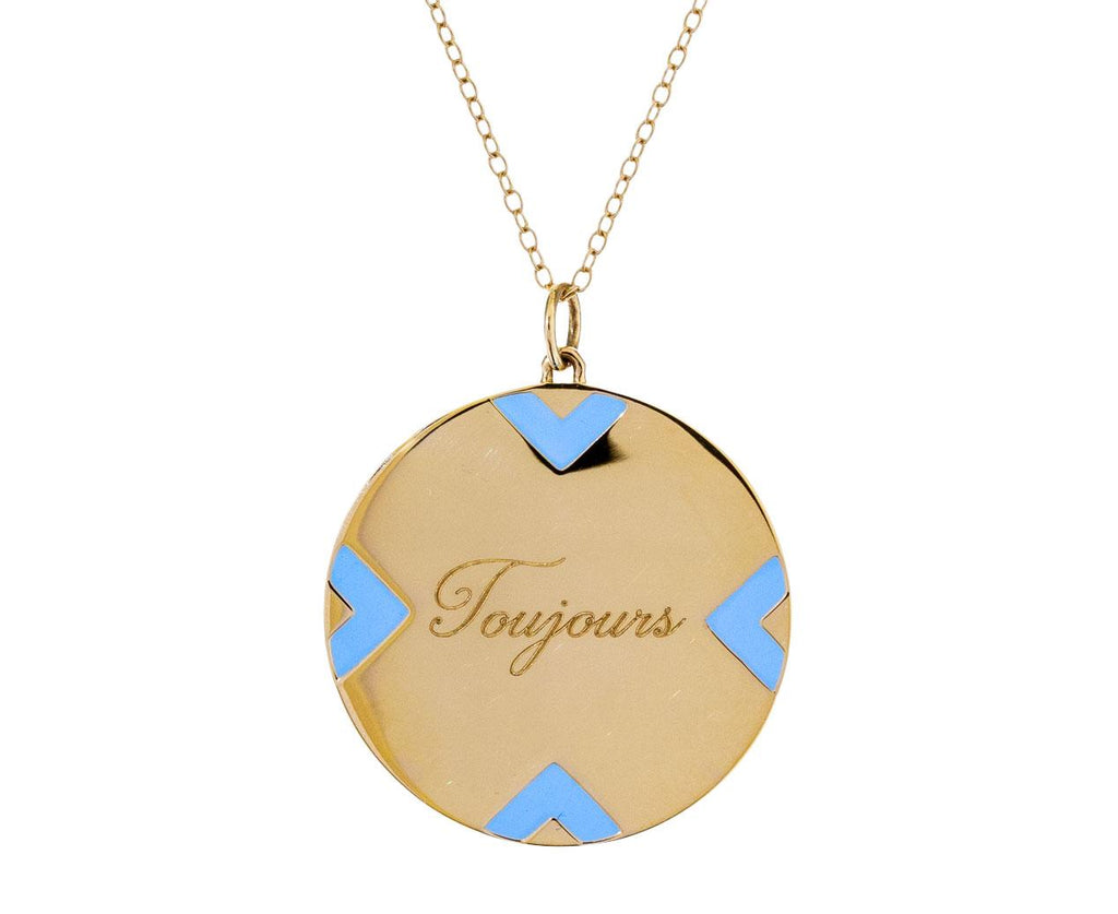 Enamel Stripe Toujours Pendant Necklace - TWISTonline