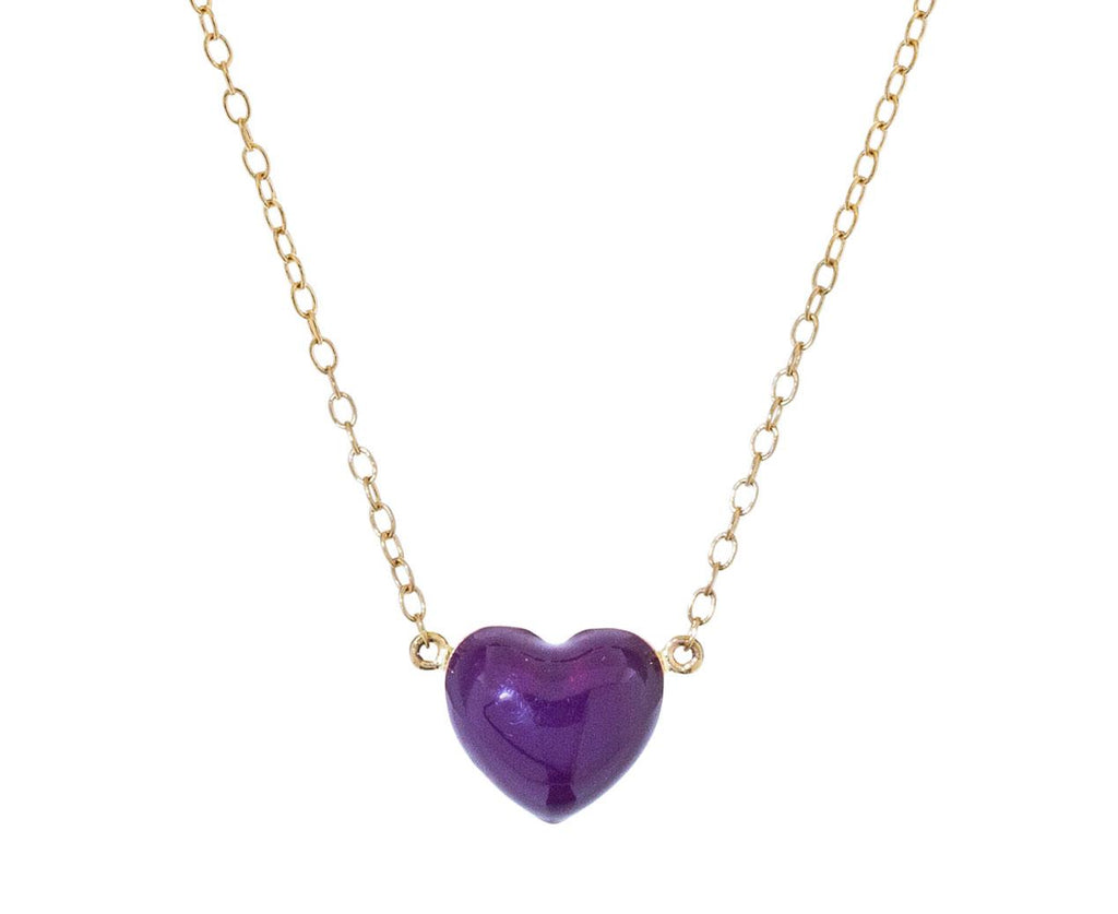 Aubergine Heart Pendant Necklace - TWISTonline