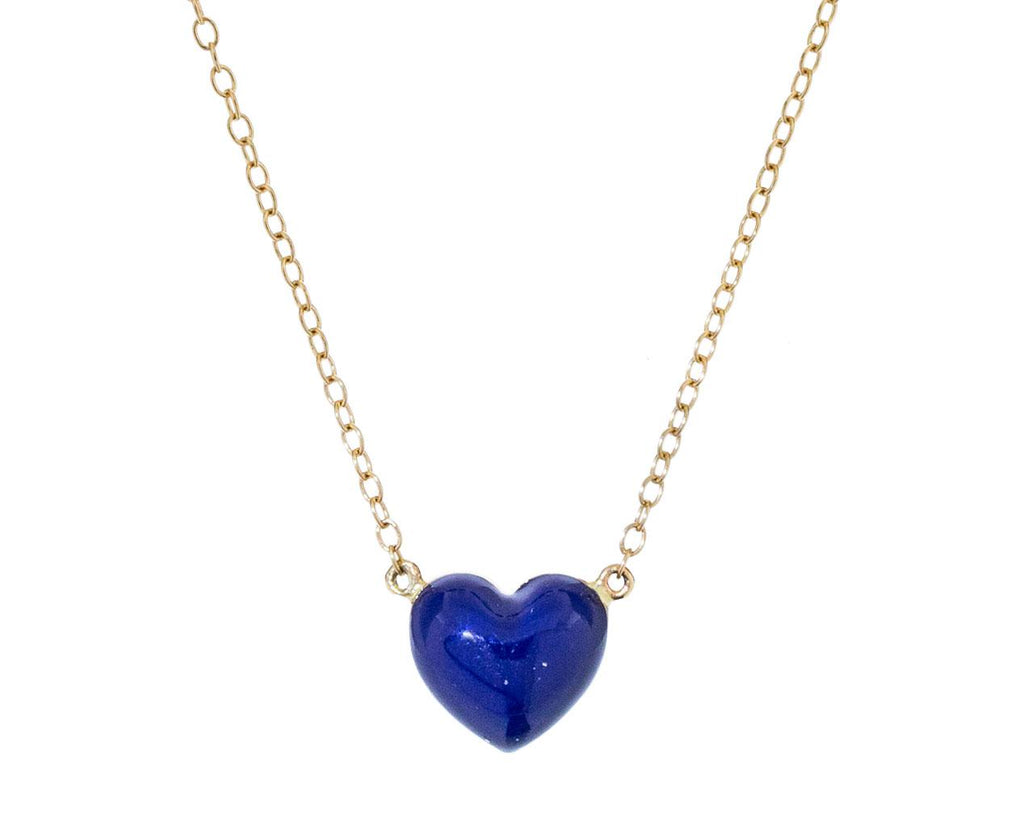 Bleu Fonce Heart Pendant Necklace - TWISTonline