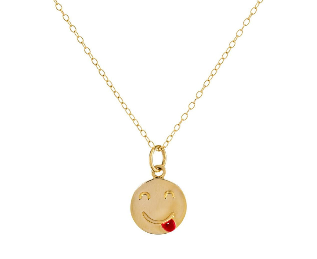 Small Tongue Out Pendant Necklace - TWISTonline