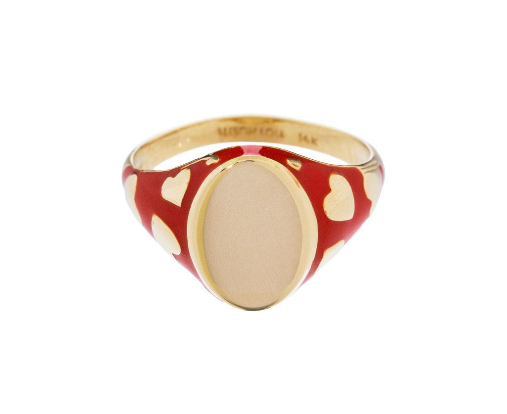 Amour Rouge Tomate Signet Ring zoom 1_alison_lou_gold_enamel_signet_amour_ring