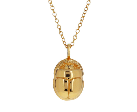 Gold Mini Scarab Necklace