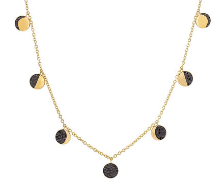 Black Diamond Phases of the Moon Necklace - TWISTonline