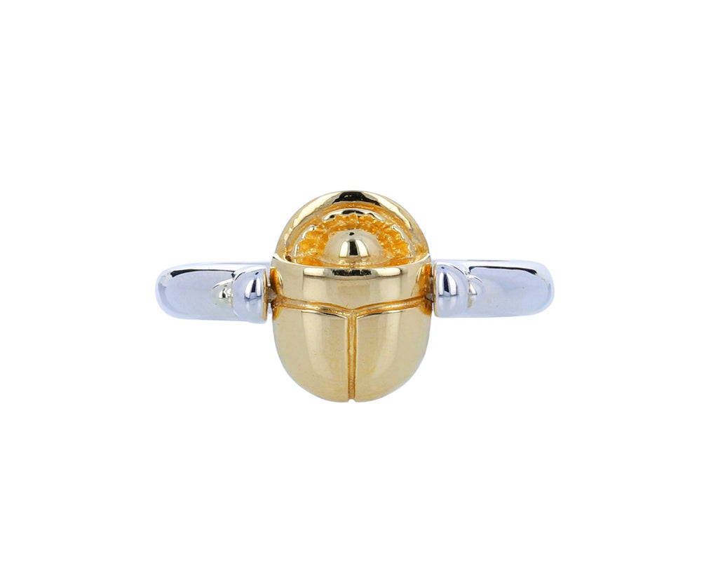Silver and Gold Scarab Ring