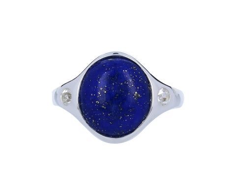 Lapis and White Topaz Essential Ring - TWISTonline