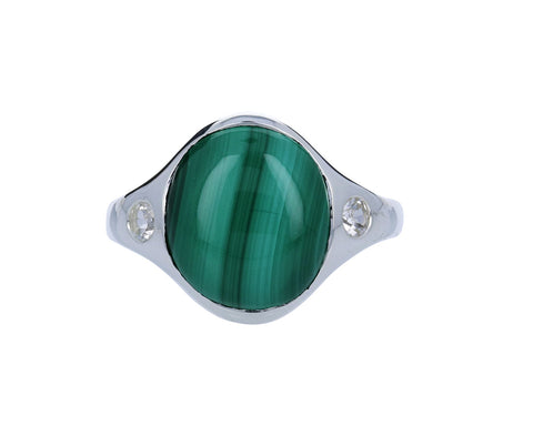 Malachite and White Topaz Essential Ring - TWISTonline