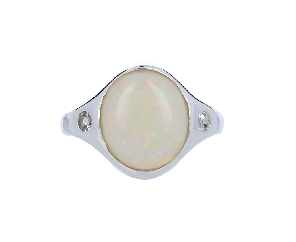 Opal and Topaz Essential Ring