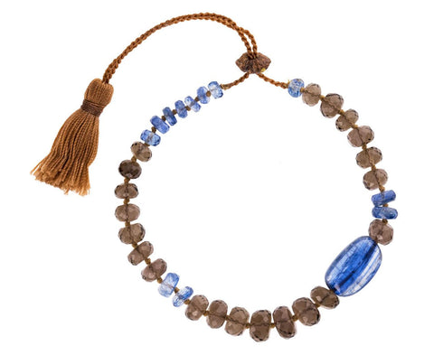 Brown Topaz and Kyanite Bead Bracelet - TWISTonline
