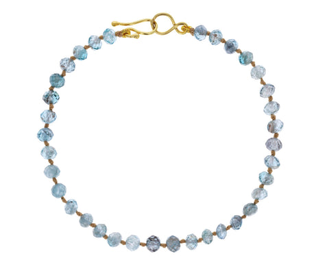 Blue Zircon Beaded Bracelet