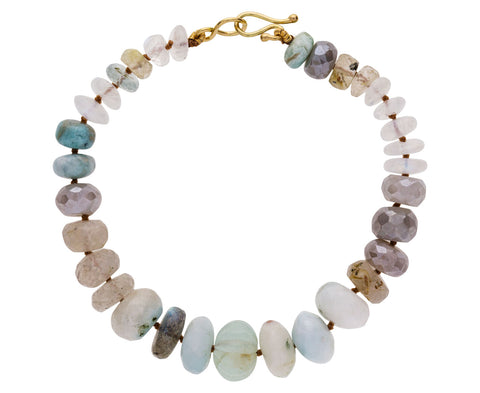 Quartz, Moonstone, and Aquamarine Bracelet - TWISTonline