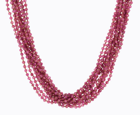 Multi-Strand Pink Tourmaline Necklace