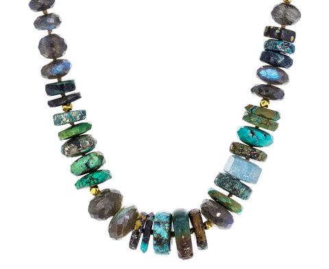 Turquoise and Labradorite Necklace - TWISTonline
