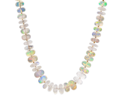 Opal Reflection Bead Necklace