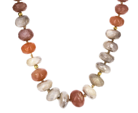 Agate, Silverite and Pink Moonstone Necklace - TWISTonline