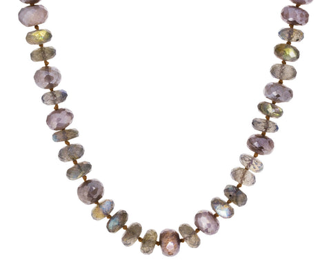 Labradorite and Silverite Beaded Necklace