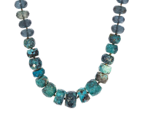 Moss Aquamarine and Turquoise Beaded Necklace - TWISTonline
