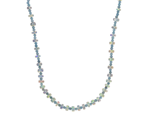 Aquamarine Opal Confetti Necklace