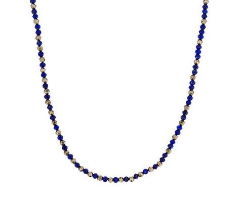 Lapis and Pyrite Confetti Bead Necklace