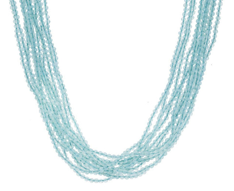 Multi-Strand Foam Jadeite Tassel Necklace - TWISTonline
