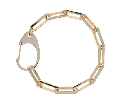 Gold Chain Bracelet with Oversized Clasp - TWISTonline
