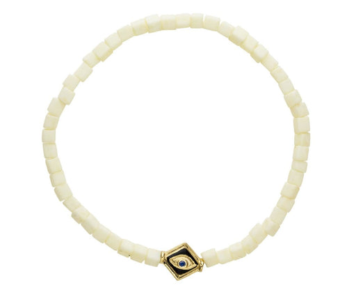 White Evil Eye Bracelet - TWISTonline