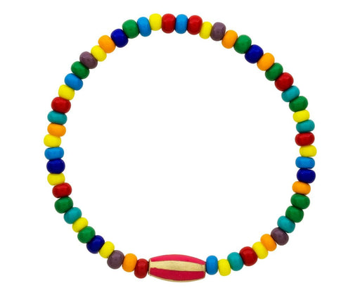 Striped Enamel Bead Bracelet - TWISTonline