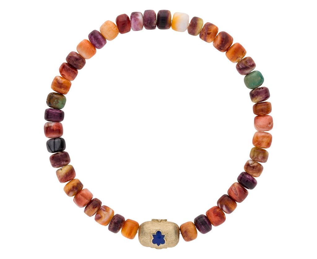 Beaded Shell and Trinity Pill Charm Bracelet - TWISTonline