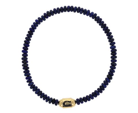 Men's Lapis Horseshoe Beaded Bracelet