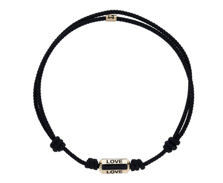 Black Cord Love Bracelet - TWISTonline