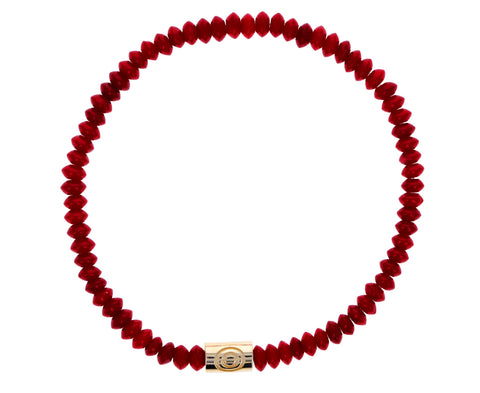 Red Beaded Evil Eye Bracelet