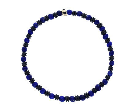 Lapis and Sapphire Beaded Men's Bracelet - TWISTonline
