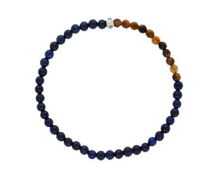 Black Bead and Tigers Eye Men's Bracelet - TWISTonline
