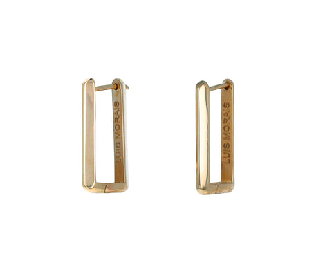 Medium Gold Link Hoop Earrings - TWISTonline