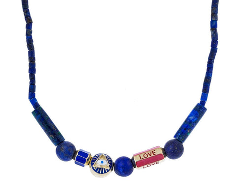 All Seeing Eye Lapis Love Necklace - TWISTonline