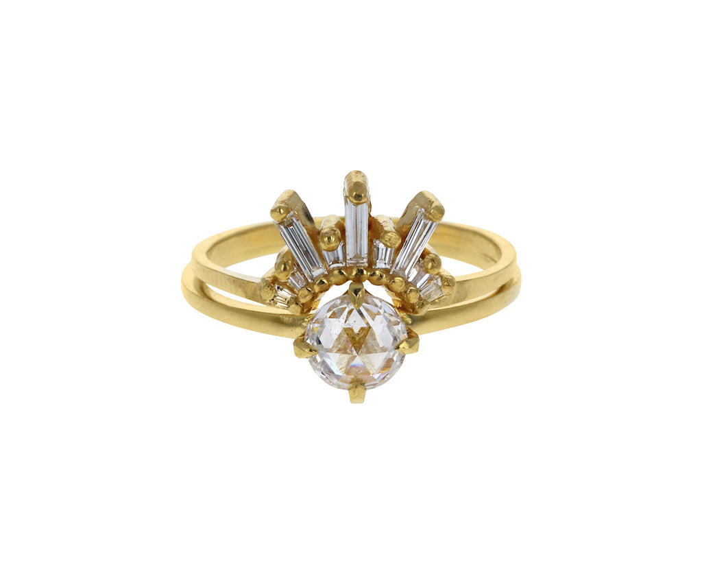 White Rose Cut Diamond Penelope Solitaire