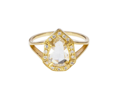 Phoebe Rose Cut Diamond Solitaire - TWISTonline