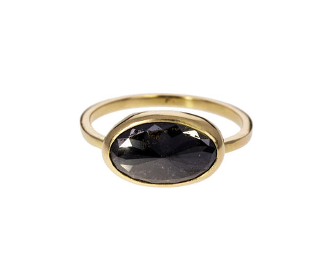 Large Oval Project Mayhem Black Diamond Solitaire - TWISTonline