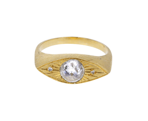 Inverted White Diamond Third Eye Ring