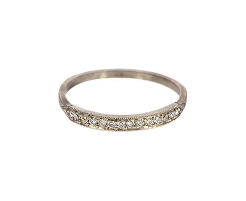 White Diamond and White Gold Tuile Ring - TWISTonline