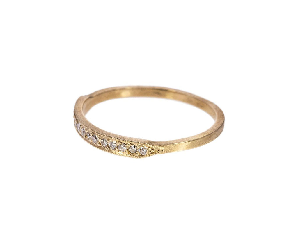 Yellow Gold and White Diamond Tuile Ring - TWISTonline