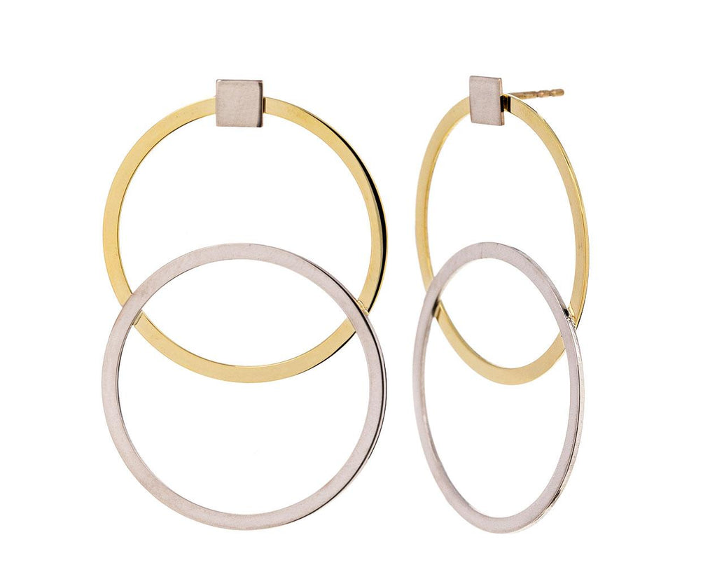 Doubles and Singles Loop Earrings zoom 1_lilian_von_trapp_gold_doubles_and_singles_earrin