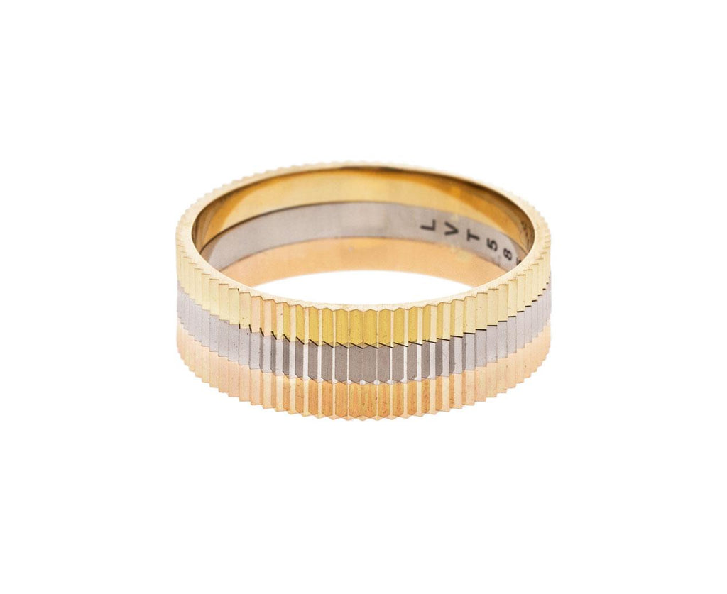 Triple Structured One Band zoom 1_lilian_von_trapp_gold_triple_structured_one_ring
