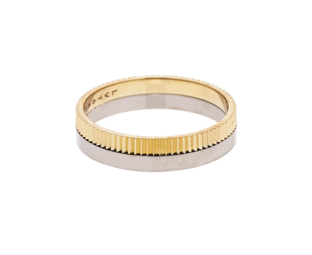 Structured Slim One Yellow White Gold Band zoom 1_lilian_von_trapp_gold_slim_structured_one_ring