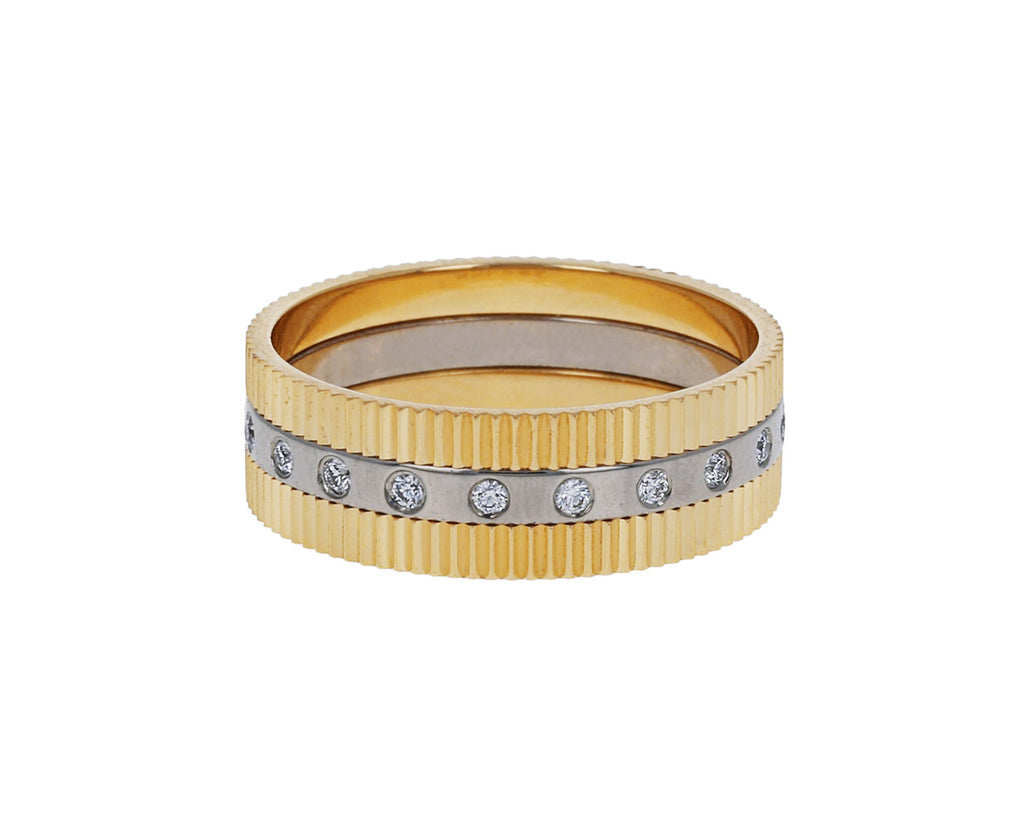 Double Structure Diamond Band