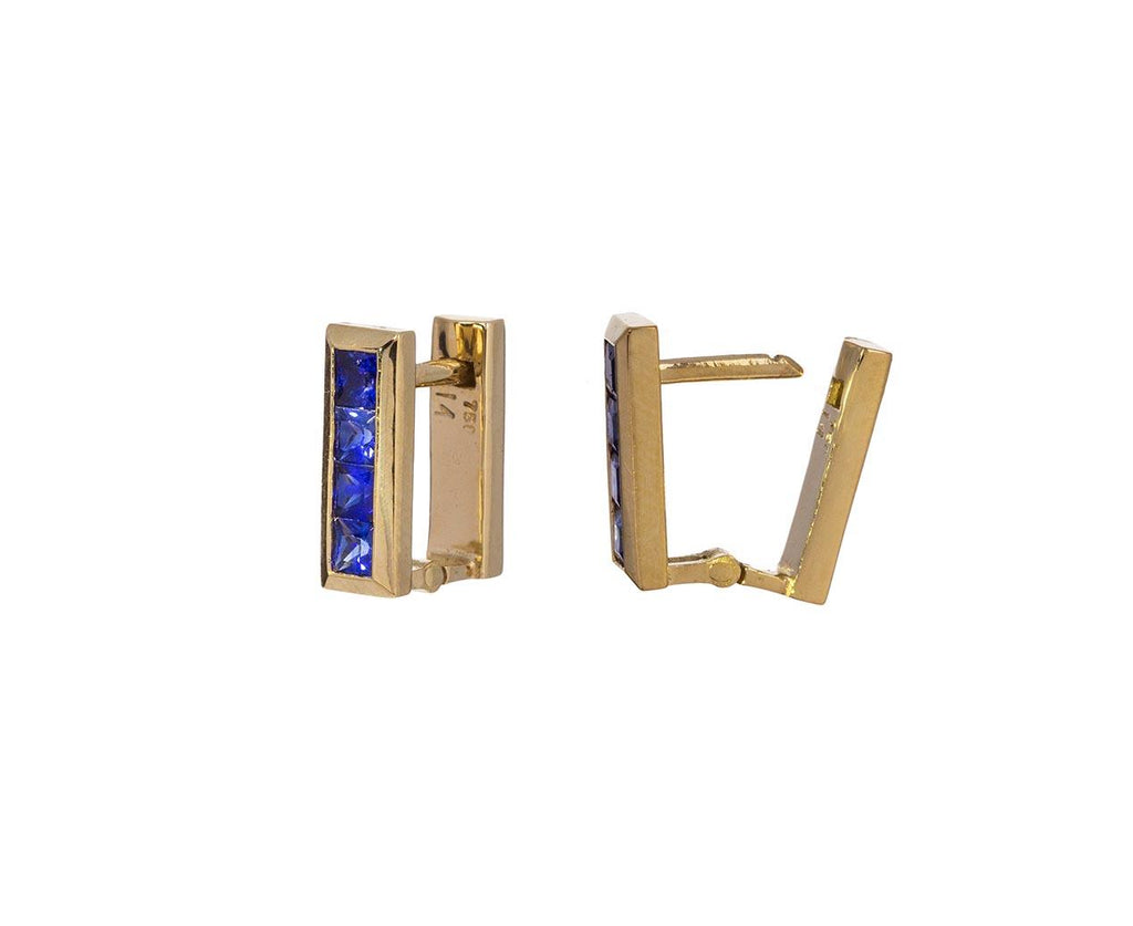 Blue Sapphire Square Hoops - TWISTonline