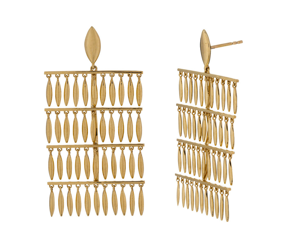 Grass Rain Drops Earrings