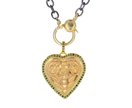 Green Diamond Carry Heart Pendant ONLY